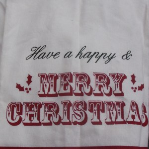 Country Christmas Santa Have a Happy MERRY CHRISTMAS Set 2 Tea Towels New