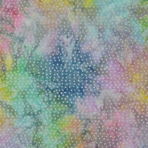 Patchwork Quilting Sewing Fabric BATIK PASTEL RAINBOW SPOTS 50x55cm FQ New