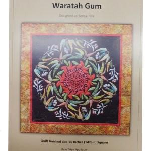Quilting Sewing Australian Flora Mandala Quilt Pattern WARRATAH GUM New