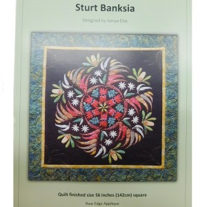 Quilting Sewing Australian Flora Mandala Quilt Pattern STURT BANKSIA New