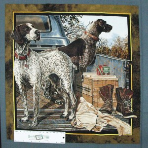 Patchwork Quilting Sewing Fabric DOG DAYS 3 CUSHION Panel 45X45cm New