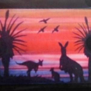 Quilting Sewing AUSTRALIAN Animal KANGAROO Quilt Pattern Kit including Fabric New