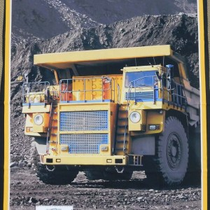 Patchwork Quilting Sewing Fabric COAL MINING TRUCK Panel 90x110cm New