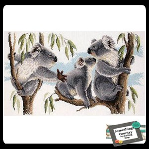 Country Threads Cross Stitch Counted X Stitch Pattern Graph KOALAS New (CT)