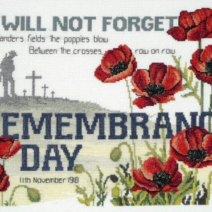 Country Threads Cross Stitch Counted X Stitch Kit REMEMBRANCE DAY Inc Aida New FJ-1064