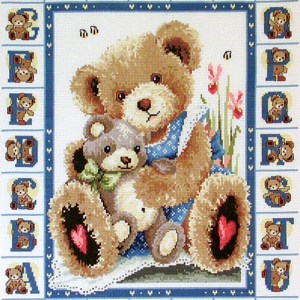 Country Threads Cross Stitch Counted X Stitch Pattern Graph ABC BEARS New (CT)