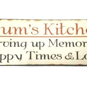 Country French Inspired Wall Art MUMS KITCHEN Wooden Sign Plaque NEW