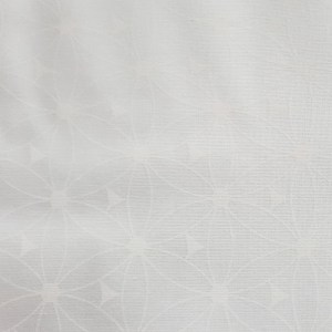 Patchwork Quilting Sewing Fabric White on White Large Flower 50x55cm FQ New