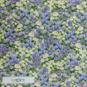 Patchwork Quilting Sewing Fabric Hydrangeas Purple 50x55cm FQ New Material