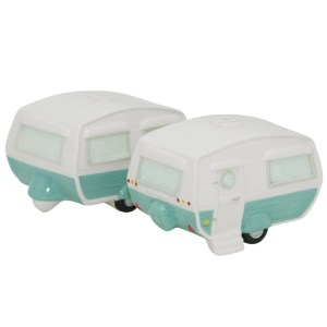 French Country Collectable Novelty Blue Caravan Salt and Pepper Set New