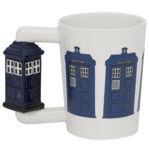 French Country Kitchen Coffee Mugs Novelty Dr Who Police Box Handle New
