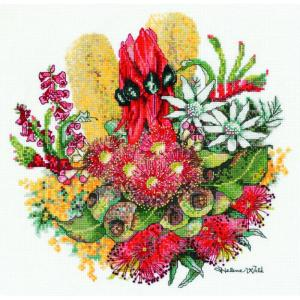 DMC Australian Collection Cross Stitch Kit inc Threads Wildflower Bouquet New HW001