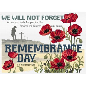 Country Threads Cross X Stitch Pattern REMEMBRANCE DAY New FJP-1064 (CT)