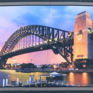 Patchwork Quilting Sewing Fabric Sydney Harbour Bridge Aussie Panel 60x110cm New
