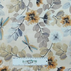Patchwork Quilting Sewing Fabric Cream Tree Leaves 50x55cm FQ New Material