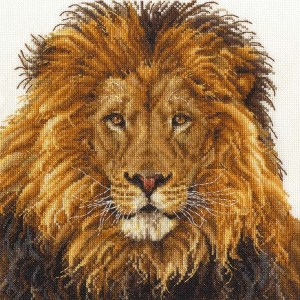 DMC Cross Stitch Kit LIONS PRIDE Counted X-Stitch with Aida and Threads New - BK1668