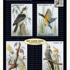 Country Threads Cross Stitch MINI AUSSIE BIRDS Pattern New X Stitch FJP-001-004 (CT)