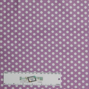 Quilting Patchwork Sewing Fabric TILDA PURPLE AND WHITE SPOTS 50x55cm FQ New