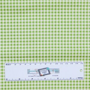Patchwork Quilting Sewing Fabric LIME GREEN SMALL GINGHAM CHECK 50x55cm FQ New
