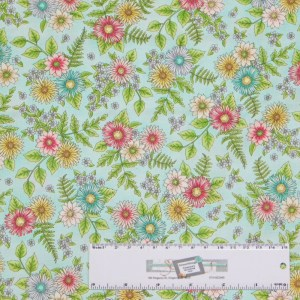 Patchwork Quilting Sewing Fabric ROAM SWEET HOME BLUE FLOWERS 50x55cm FQ New