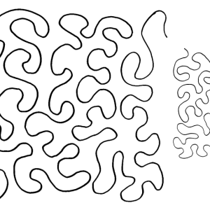Quilting Full Line Stencil STIPPLE MEANDER 2 SIZES Reusable for Quilts use Pounce A3 New