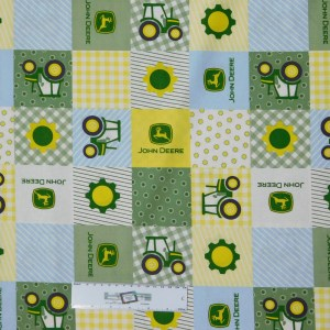 Patchwork Quilting Sewing Fabric FARM PATCH JOHN DEERE 50x55cm FQ New