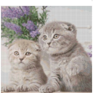 Cross Stitch Pattern COURTNEY and DAYNA Kittens New X Stitch Gwen Street Designs New