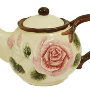 Collectable Novelty Teapot ROSE China Tea Pot for collector or use FREEPOST NEW