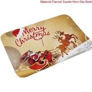 Door or Kitchen Bathroom Merry Christmas Floor Mat Rect Non Slip Floormat New