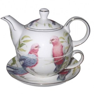 French Country Lovely Teapot Australian GALAH TEA FOR ONE with Gift box New