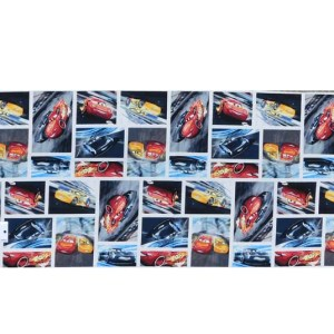 Patchwork Quilting Sewing Fabric PIXAR CARS LIGHTNING McQUEEN Panel 30x110cm New