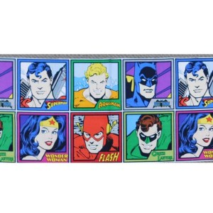 Patchwork Quilting Sewing Fabric DC SUPER HEROES Panel 30x110cm New