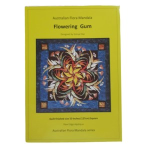 Quilting Sewing Australian Flora Mandala Quilt Pattern FLOWERING GUM New
