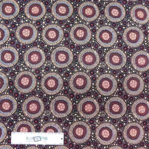 Patchwork Quilting Sewing Fabric ABORIGINAL WILD FLORAL APRICOT 50x55cm FQ New