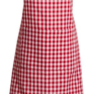 French Country Styled Gingham Check Kitchen Apron RED Full Adult Size New