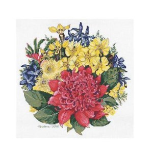 Cross Stitch Kit Counted DMC WARATAH BOUQUET X Stitch Kit Incl. Threads New HW002
