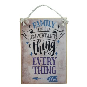 Country Printed Quality Wooden Sign FAMILY IMPORTANT THING Plaque New