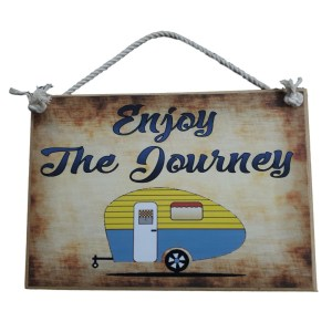 Country Printed Quality Wooden Sign CARAVAN ENJOY THE JOURNEY Plaque New