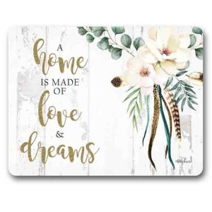 Kitchen Cork Backed Placemats AND Coasters BOHO LUXE LOVE AND DREAMS Set 6 New