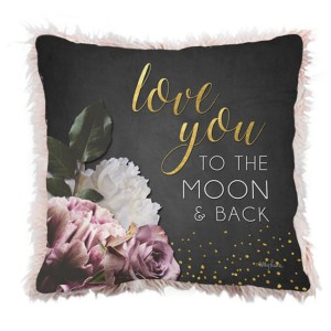 French Country Cushion Midnight Floral LOVE YOU TO MOON Cushion Filled 45x45cm New