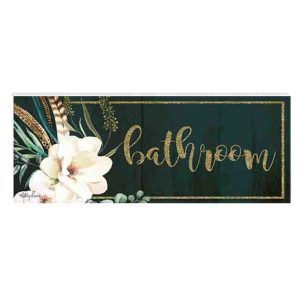 French Country Inspired Wall Art Plaque BOHO LUXE BATHROOM Wooden Sign New