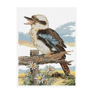 Country Threads Cross Stitch Kit BUSHMANS ALARM Counted X Stitch New FJ-1081