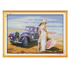 Cross Stitch Kit CAR MODEL X Stitch Joy Sunday Designs Incl Threads 48x35cm New