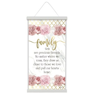 French Vintage Country Inspired Wall Art Canvas Print Blush Crush FAMILY 30x60 New