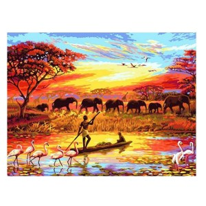 5D Diamond Painting Full Image Square Drills AFRICAN ELEPHANTS 30x40cm New