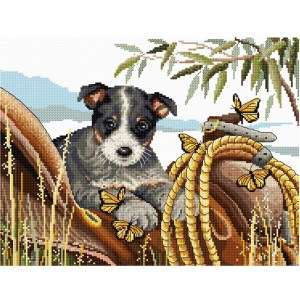 Country Threads Cross Stitch Kit SADDLE UP BLUEY Counted X Stitch New FJ-1087