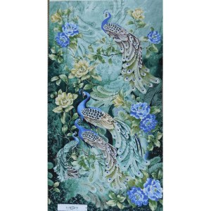 Patchwork Quilting Sewing Fabric PEACOCKS PLUME Panel 60x110cm New
