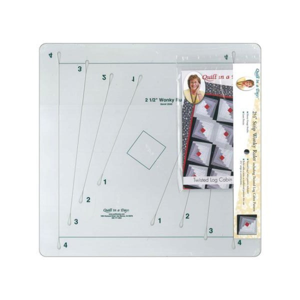 Quilting Patchwork Sewing Template Ruler QUILT IN A DAY WONKY RULER New