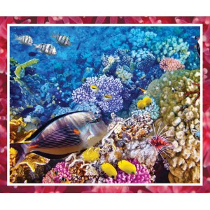 Patchwork Quilting Sewing Fabric GREAT BARRIER REEF CORAL Panel 90x110cm New