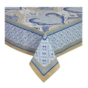 French Country Kitchen Table Cloth AZURITE Tablecloth Cotton Large 150x320cm New